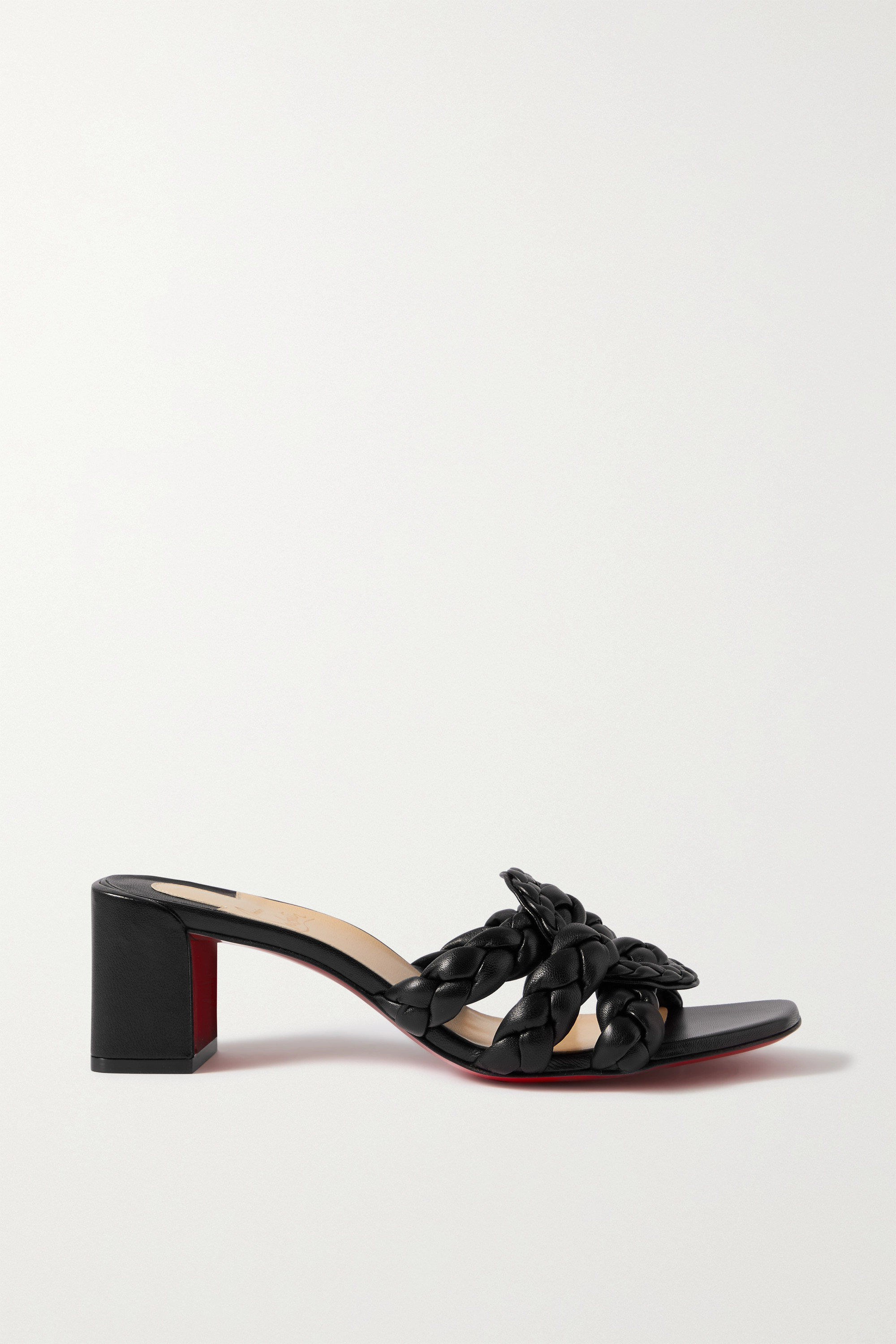 CHRISTIAN LOUBOUTIN Marmela 55 braided leather mules