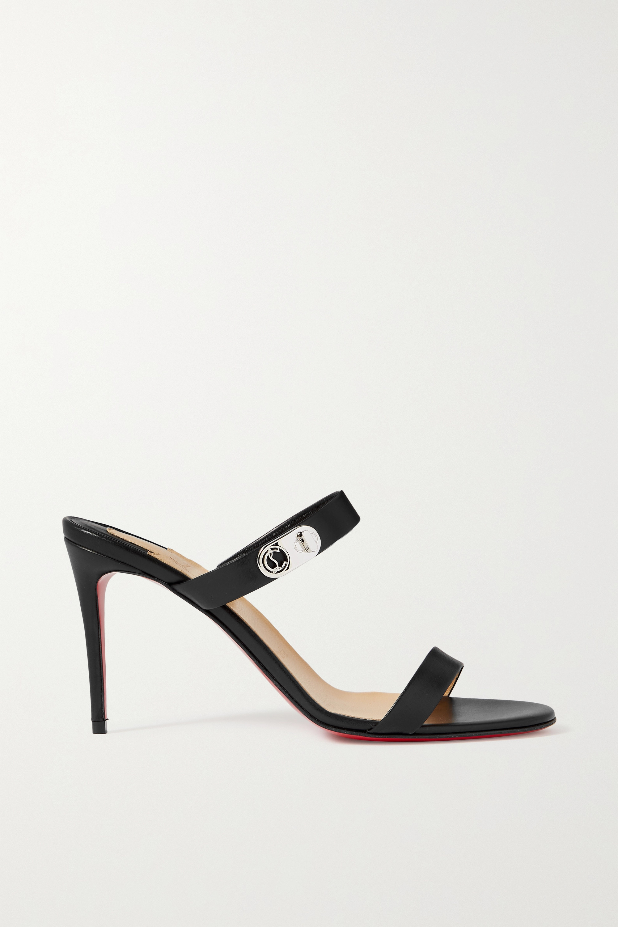 CHRISTIAN LOUBOUTIN Lock Me 85 embellished leather sandals