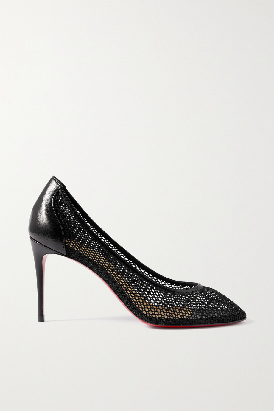 CHRISTIAN LOUBOUTIN Filomena 85 mesh and leather pumps