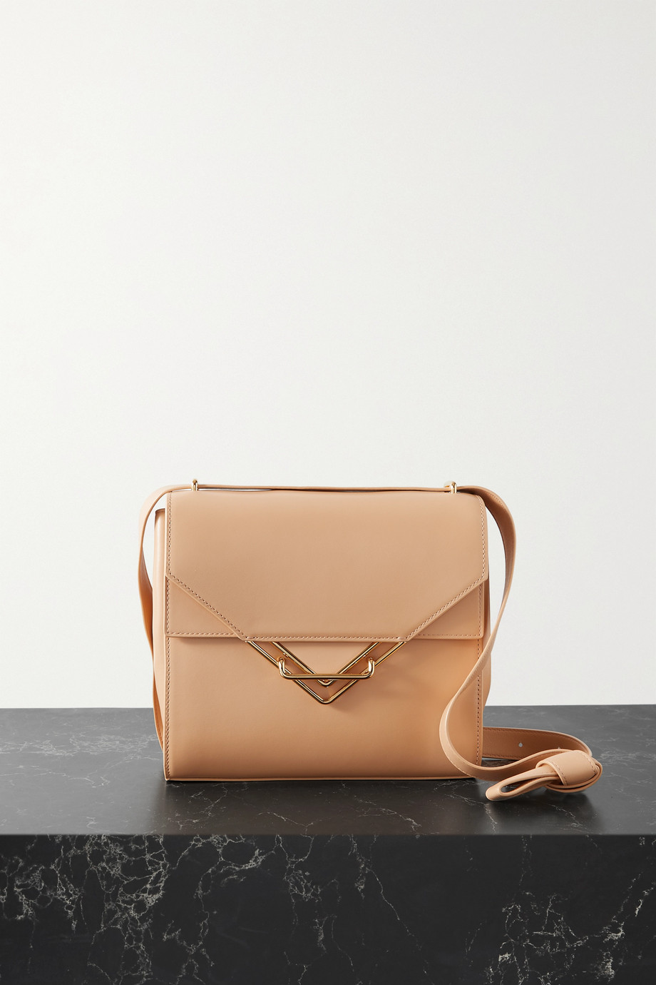 BOTTEGA VENETA The Clip small leather shoulder bag