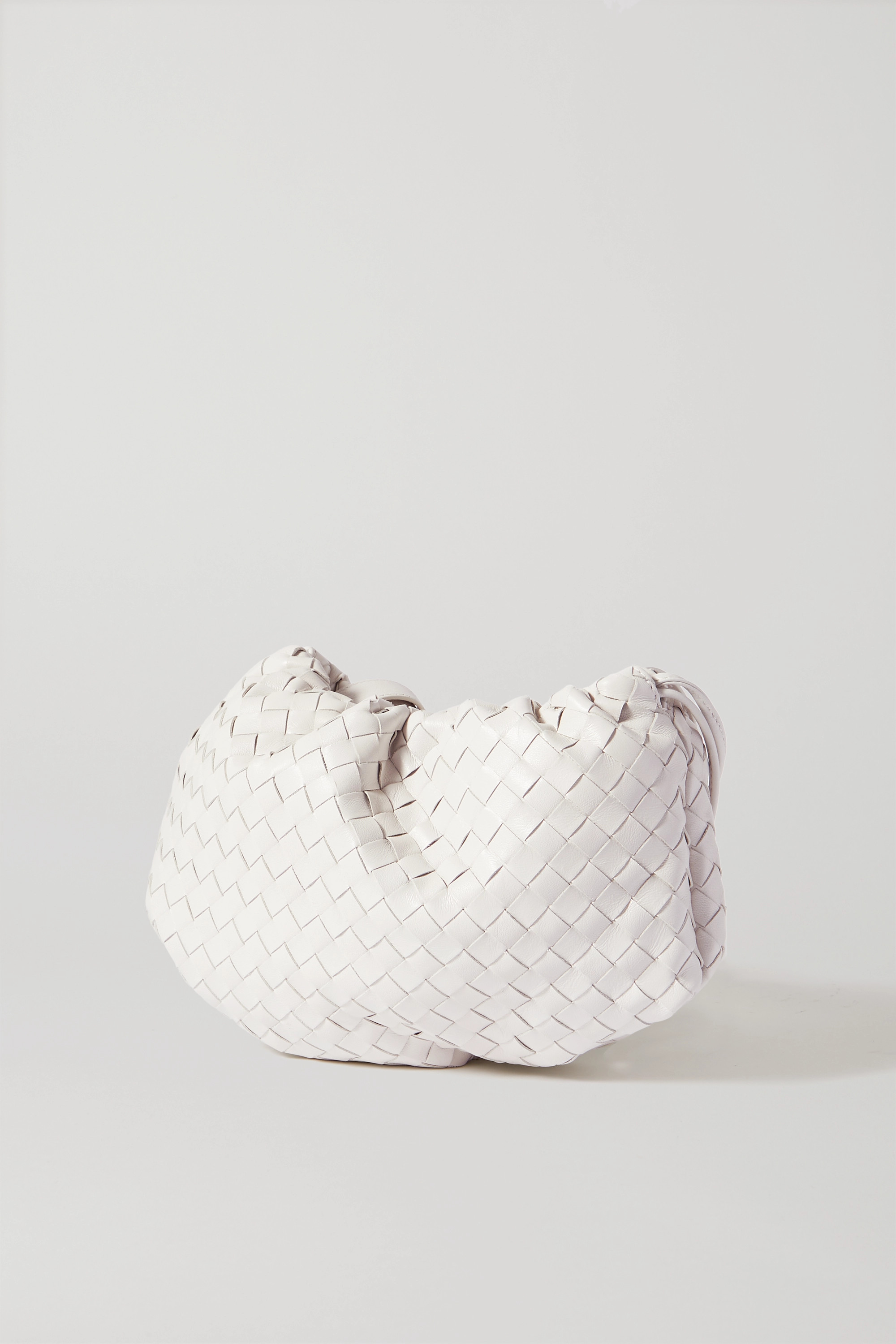 BOTTEGA VENETA The Small Bulb gathered intrecciato leather shoulder bag
