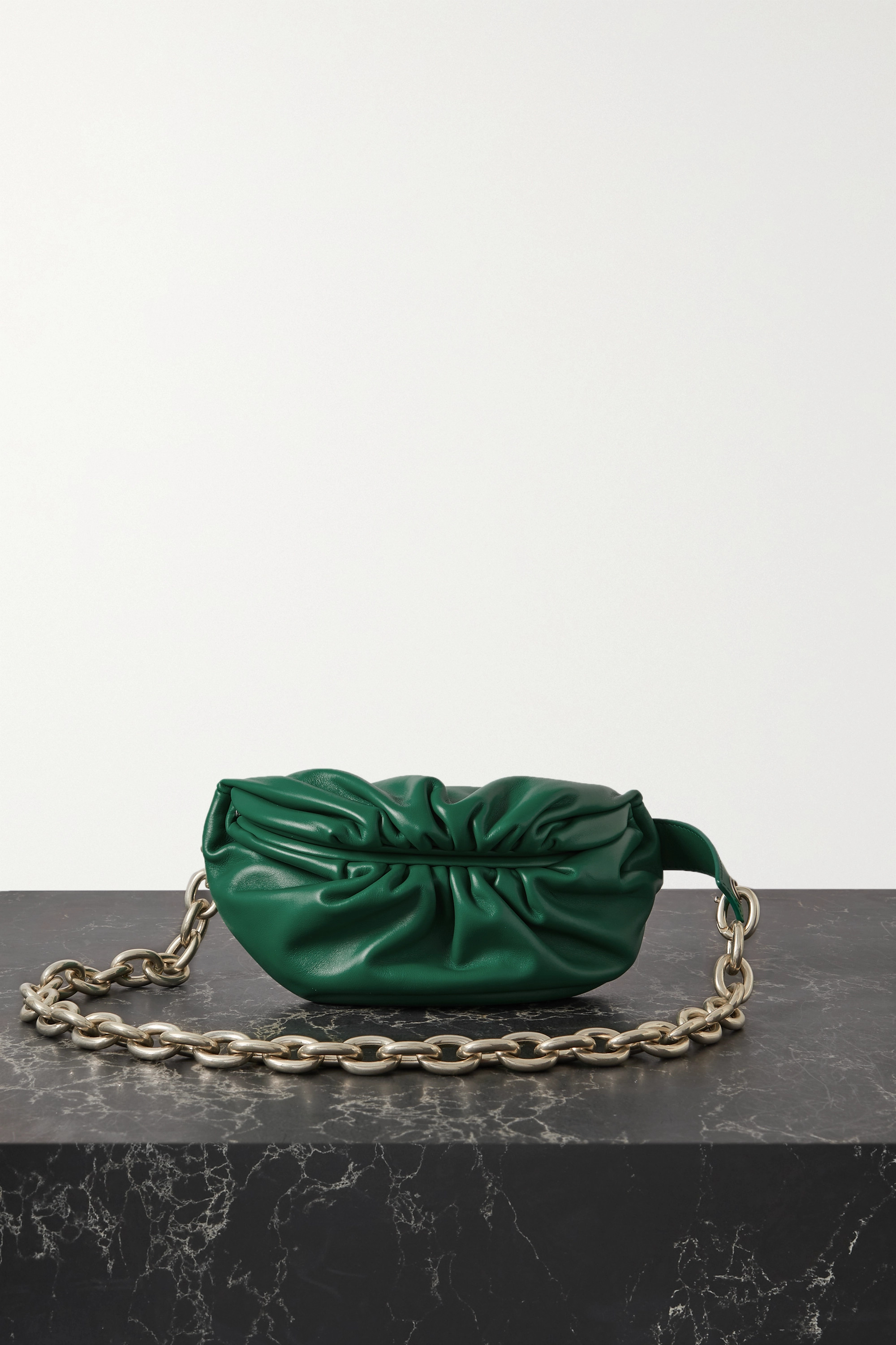 BOTTEGA VENETA The Belt Chain Pouch gathered leather belt bag