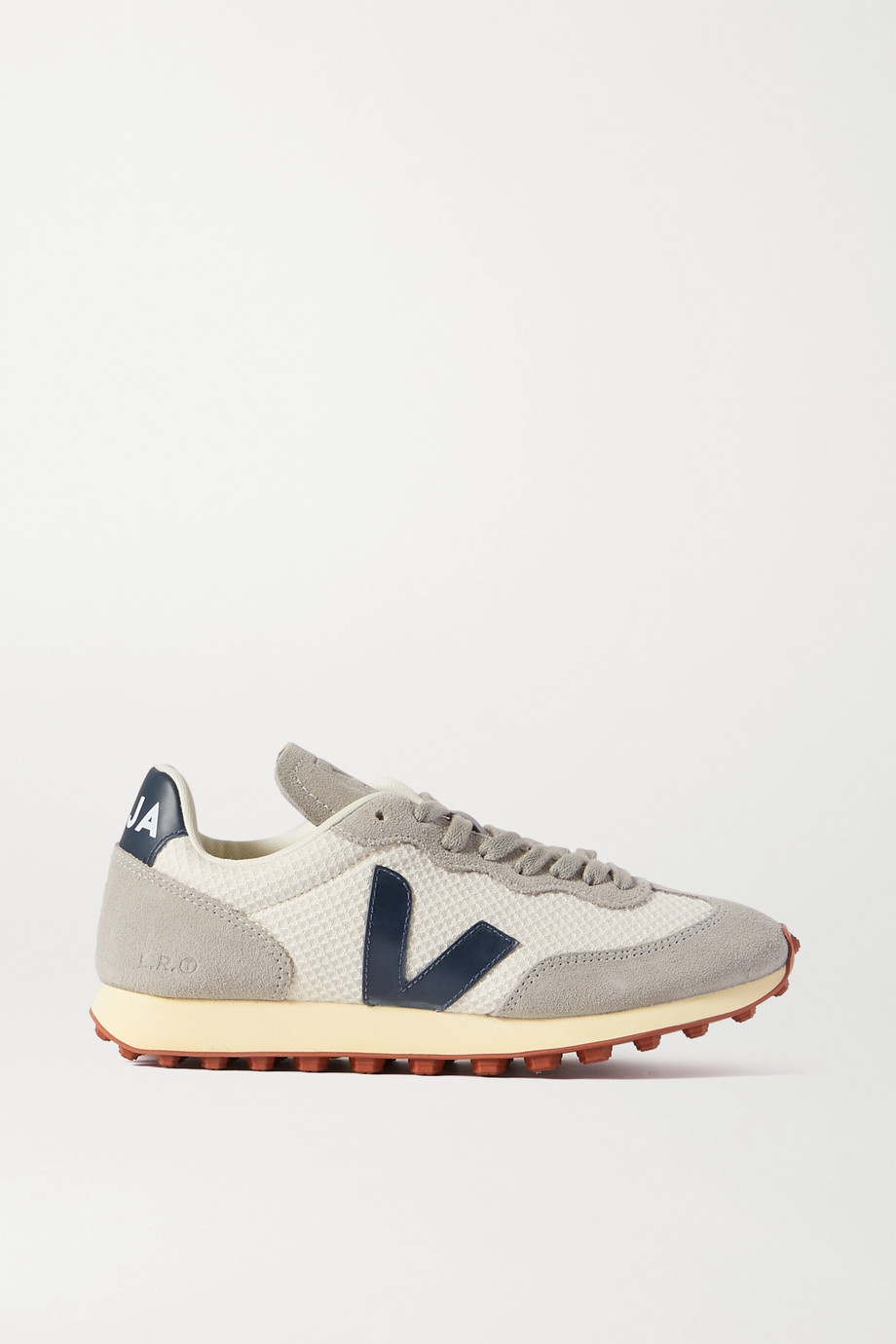 VEJA + NET SUSTAIN Rio Branco leather-trimmed suede and mesh sneakers