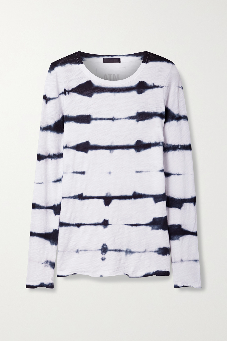 ATM ANTHONY THOMAS MELILLO Tie-dyed slub cotton-jersey top