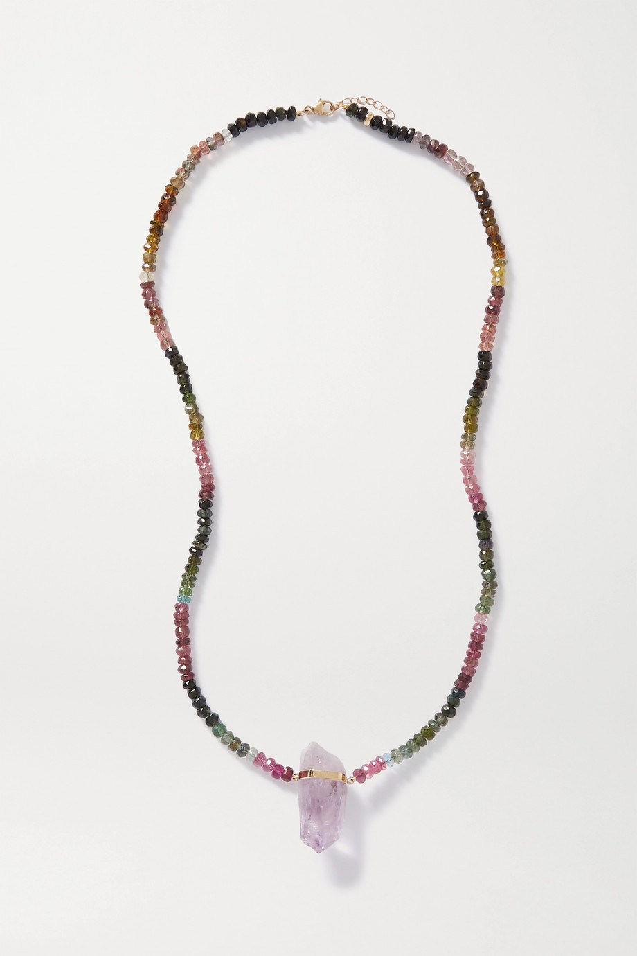 JIA JIA Arizona gold, tourmaline and amethyst necklace