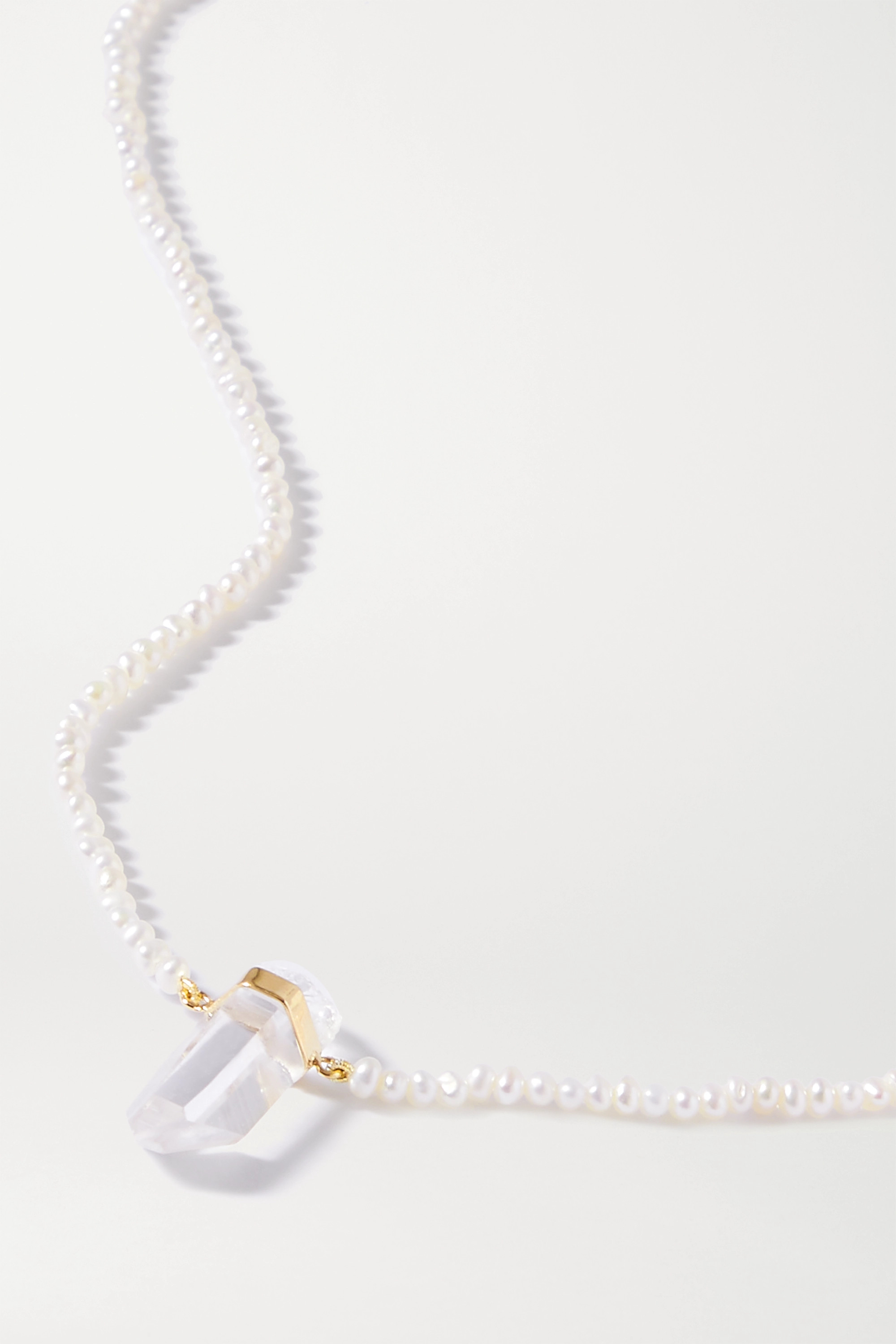 JIA JIA Gold, quartz and pearl necklace