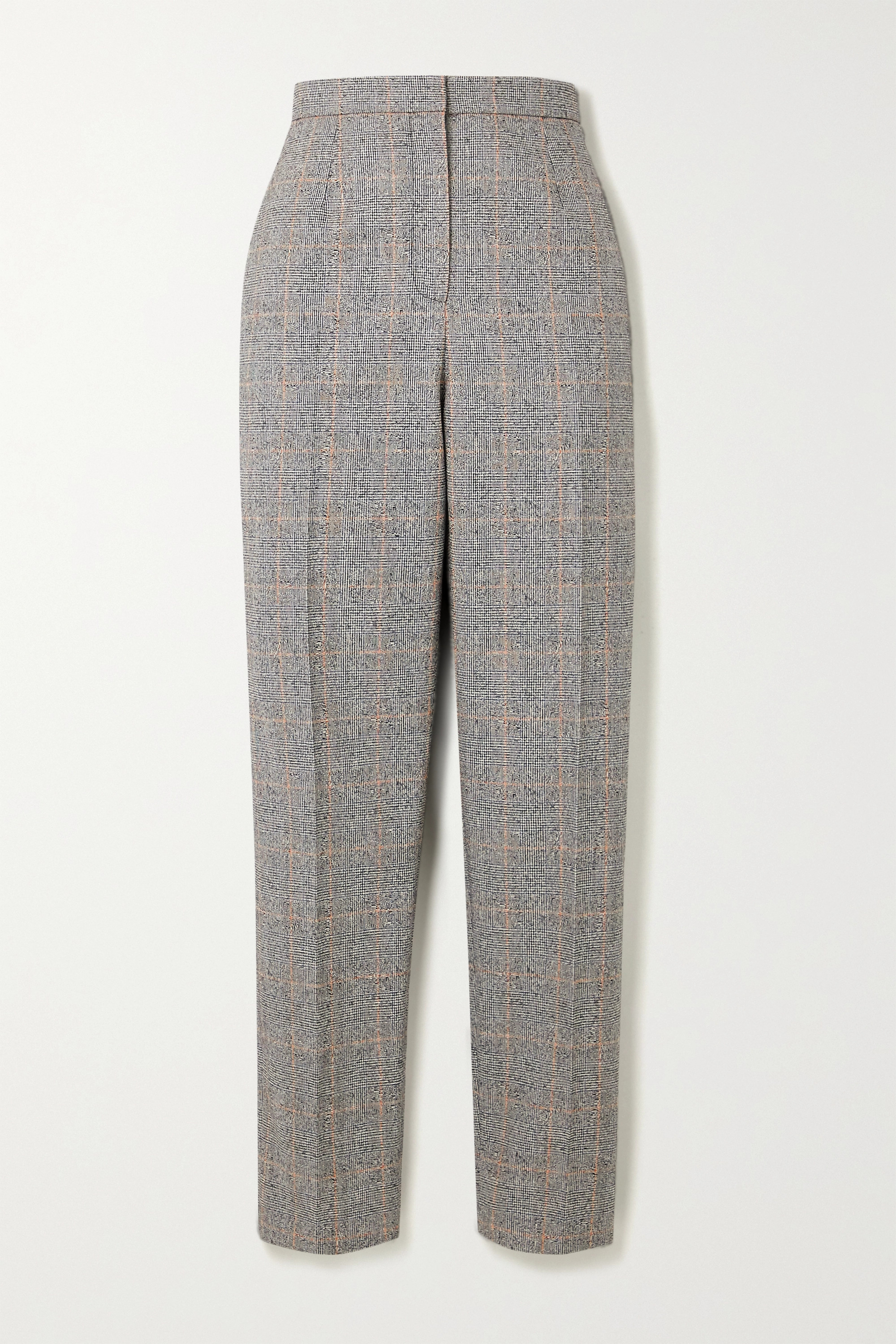 ALEXANDER MCQUEEN Prince of Wales checked wool-blend tapered pants