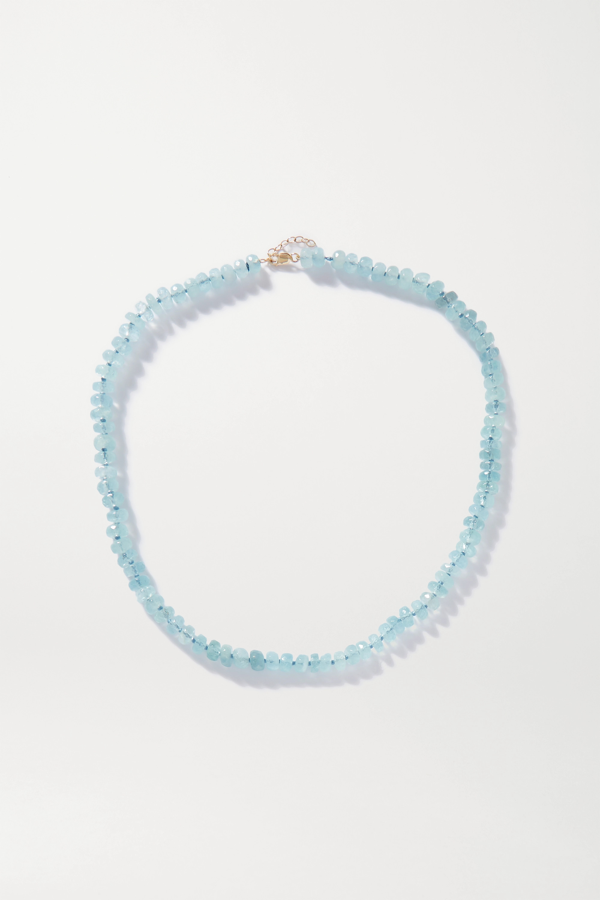 JIA JIA Oracle gold aquamarine necklace