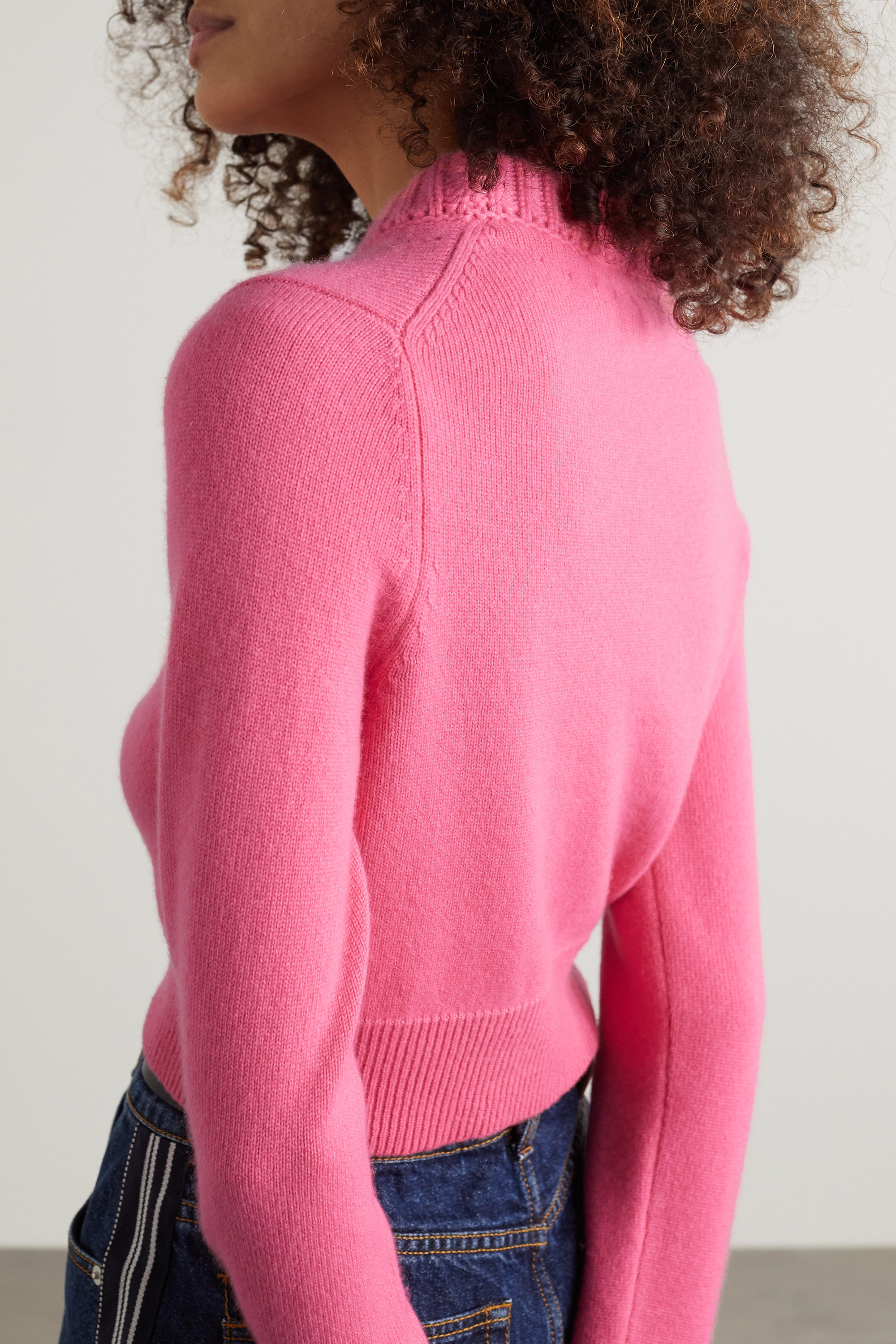 ALEXANDER MCQUEEN Cropped cashmere sweater