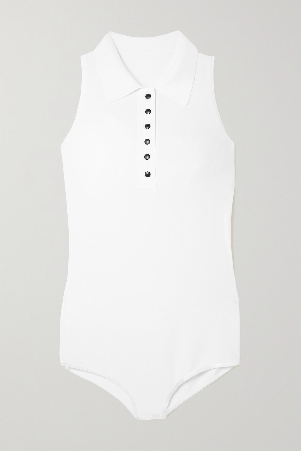 ALAÏA - Stretch-knit Bodysuit - White - FR36