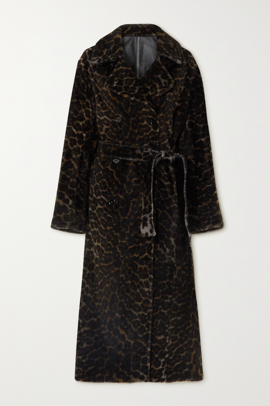 YVES SALOMON Reversible leopard-print shearling coat