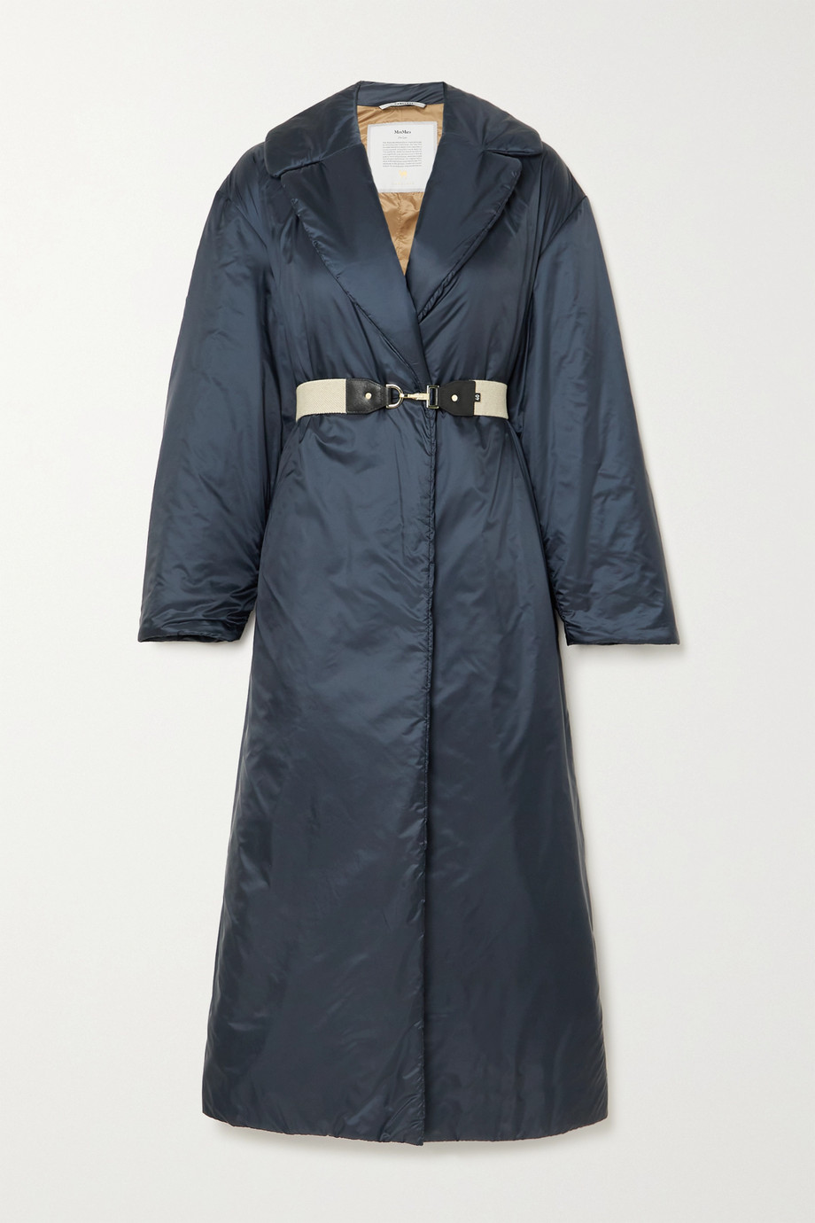 MAX MARA + Cube oversized belted padded shell coat