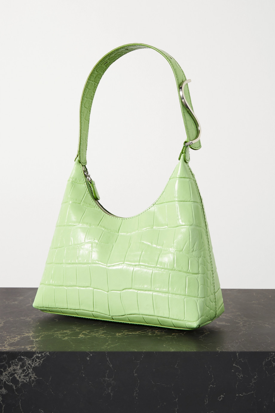 STAUD Scotty croc-effect leather shoulder bag