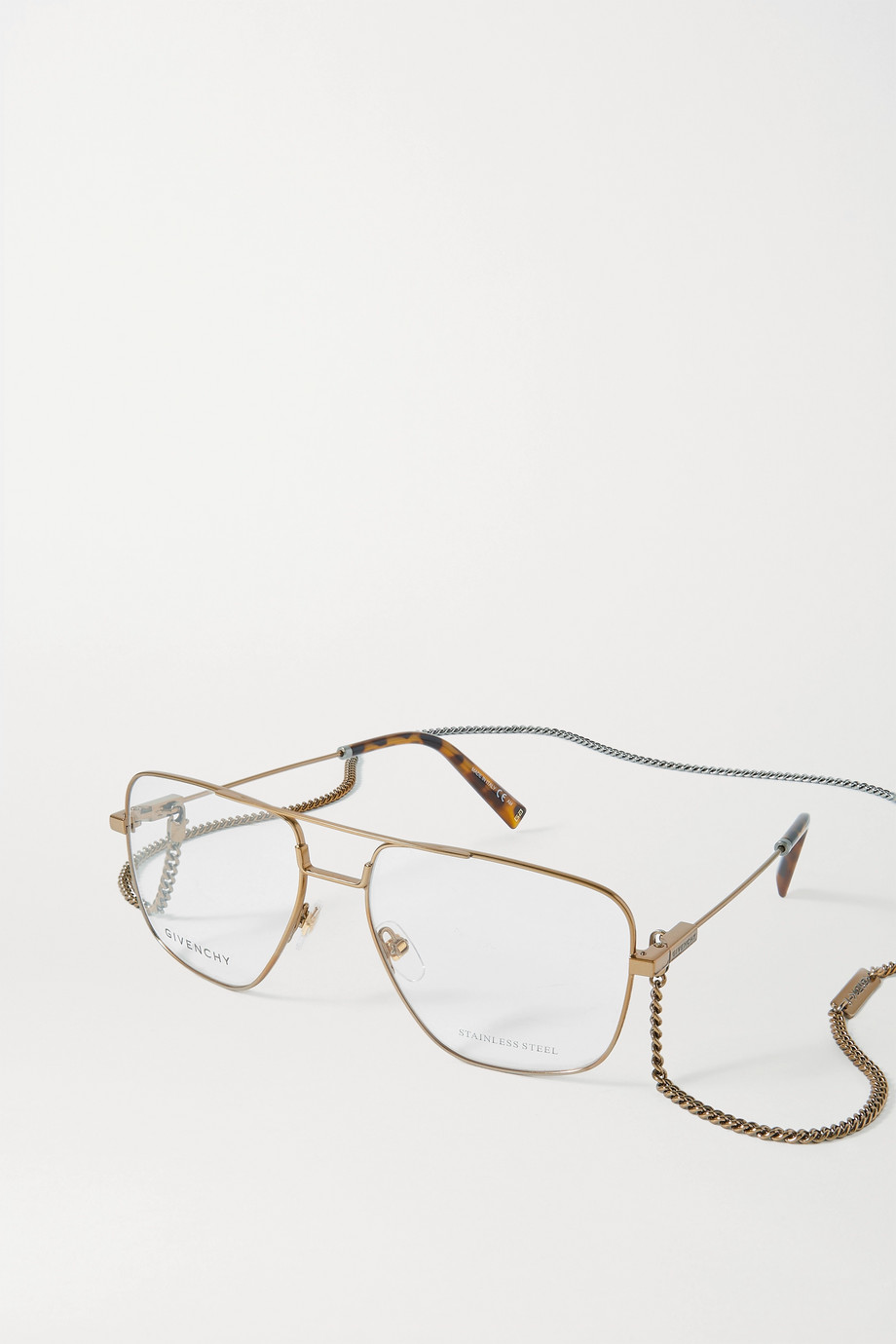 GIVENCHY Aviator-style gold-tone and tortoiseshell acetate optical glasses