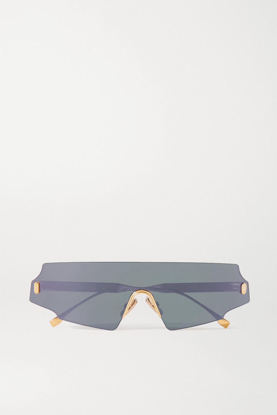 FENDI D-frame rose gold-tone sunglasses
