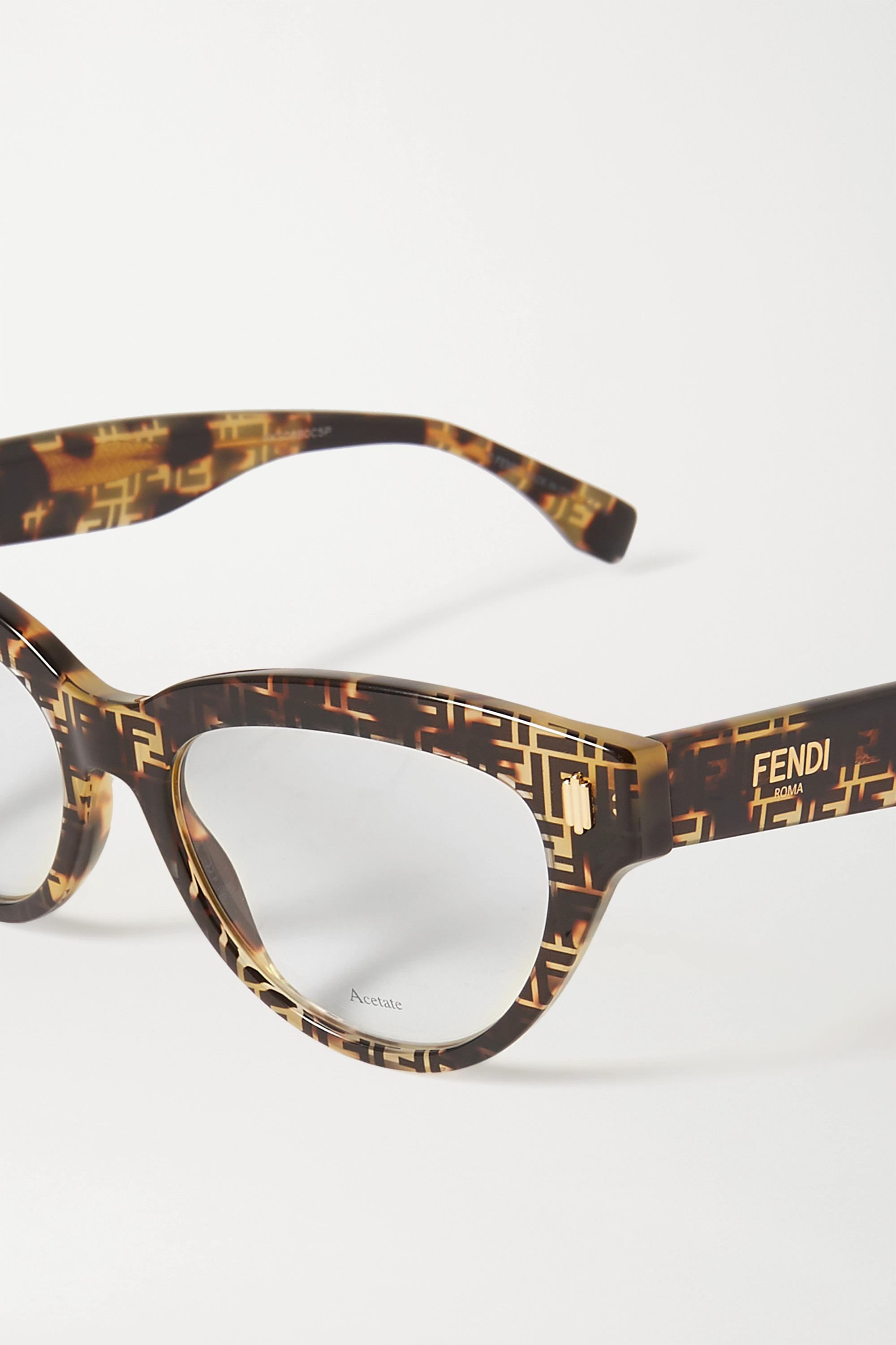 FENDI Cat-eye tortoiseshell acetate optical glasses