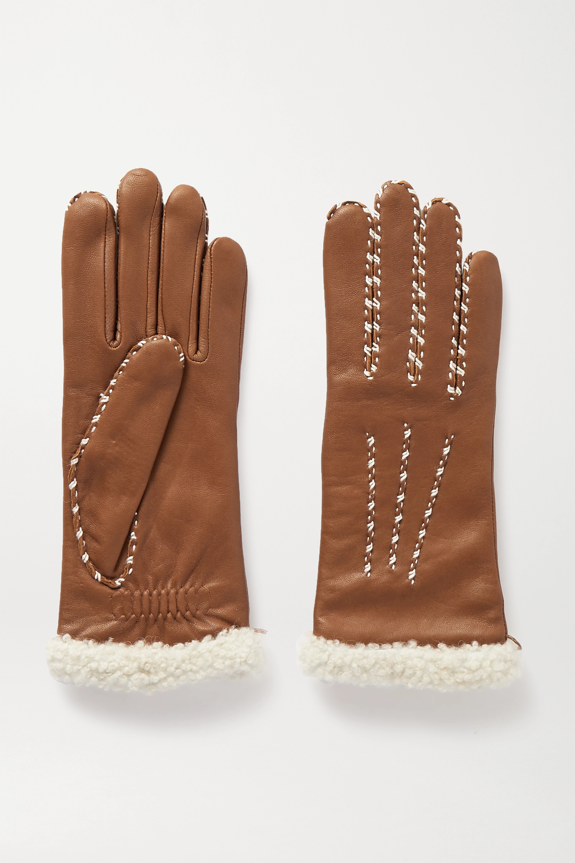 Agnelle Marie Louise alpaca-lined leather gloves