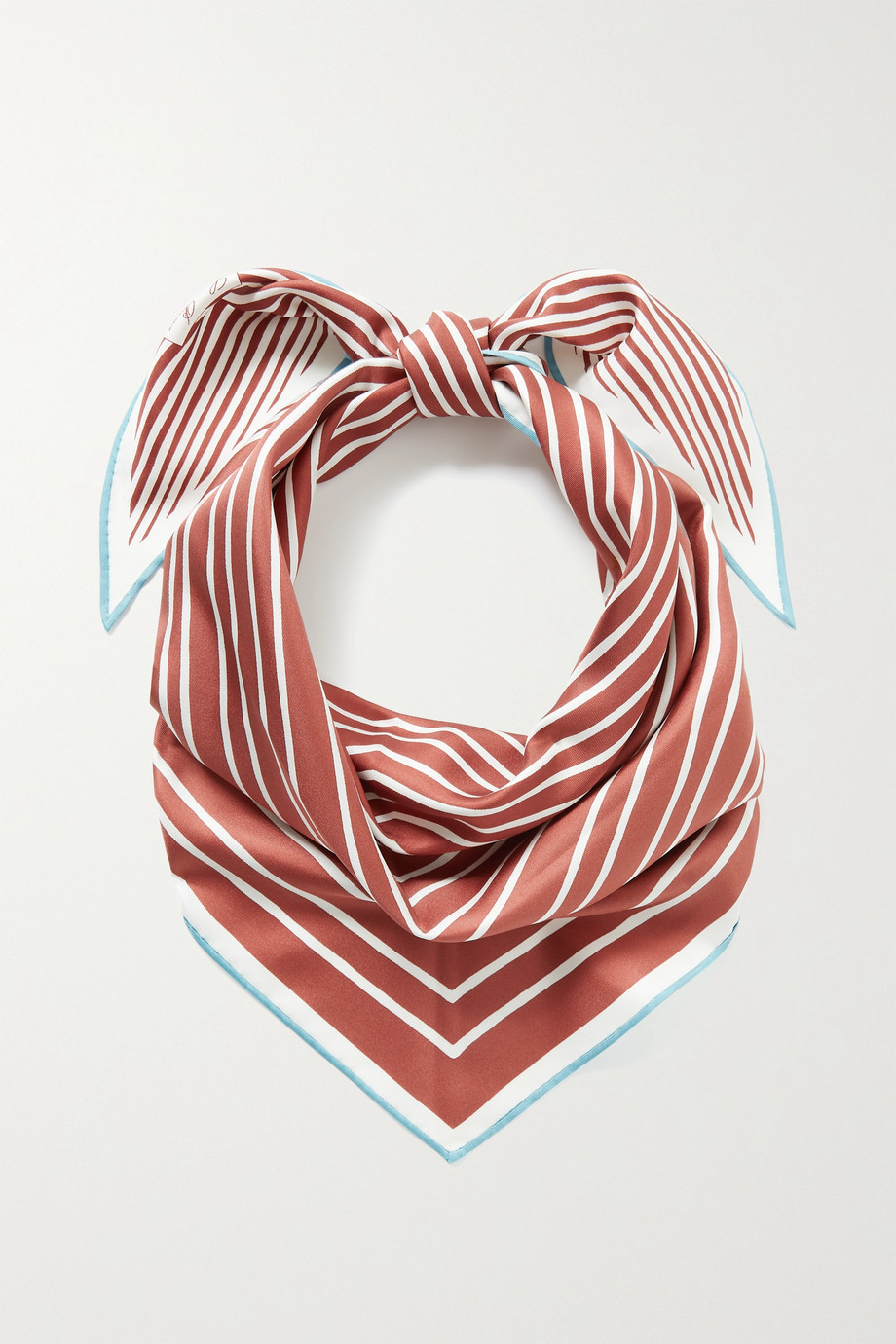 LORO PIANA Striped silk-satin twill scarf