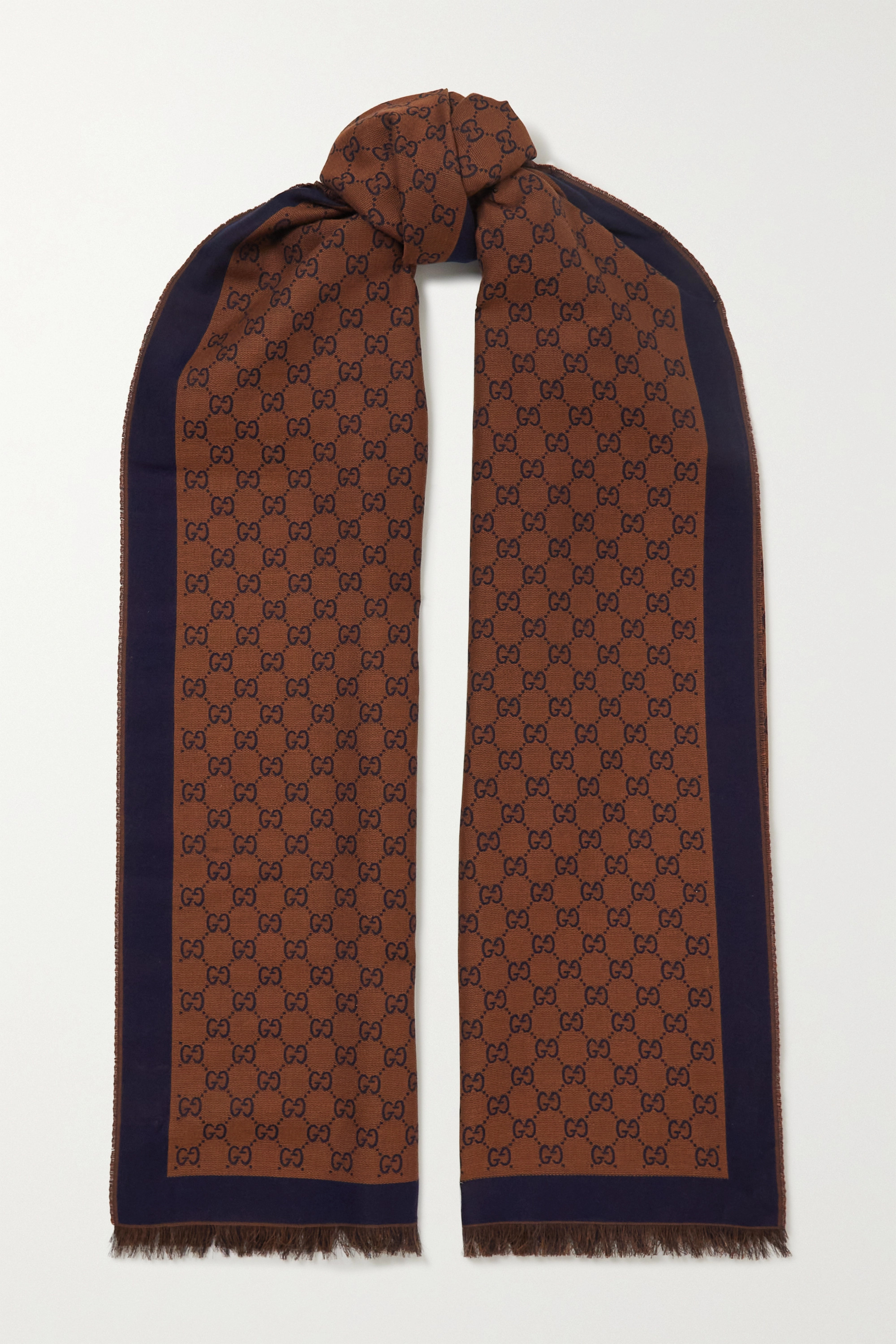 GUCCI St Lady Jammie cotton-jacquard scarf