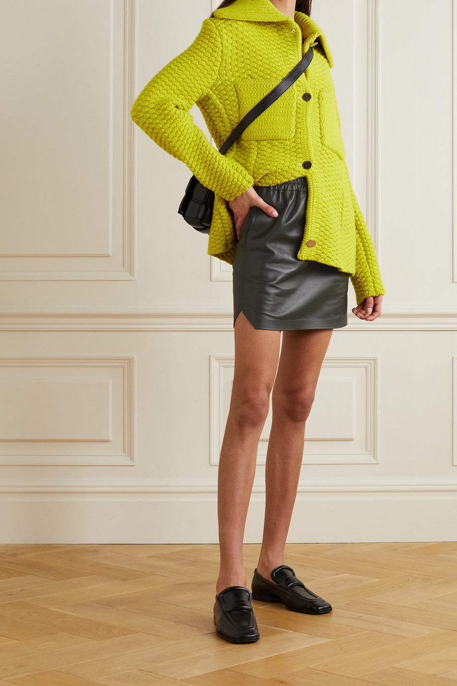 BOTTEGA VENETA Leather mini skirt