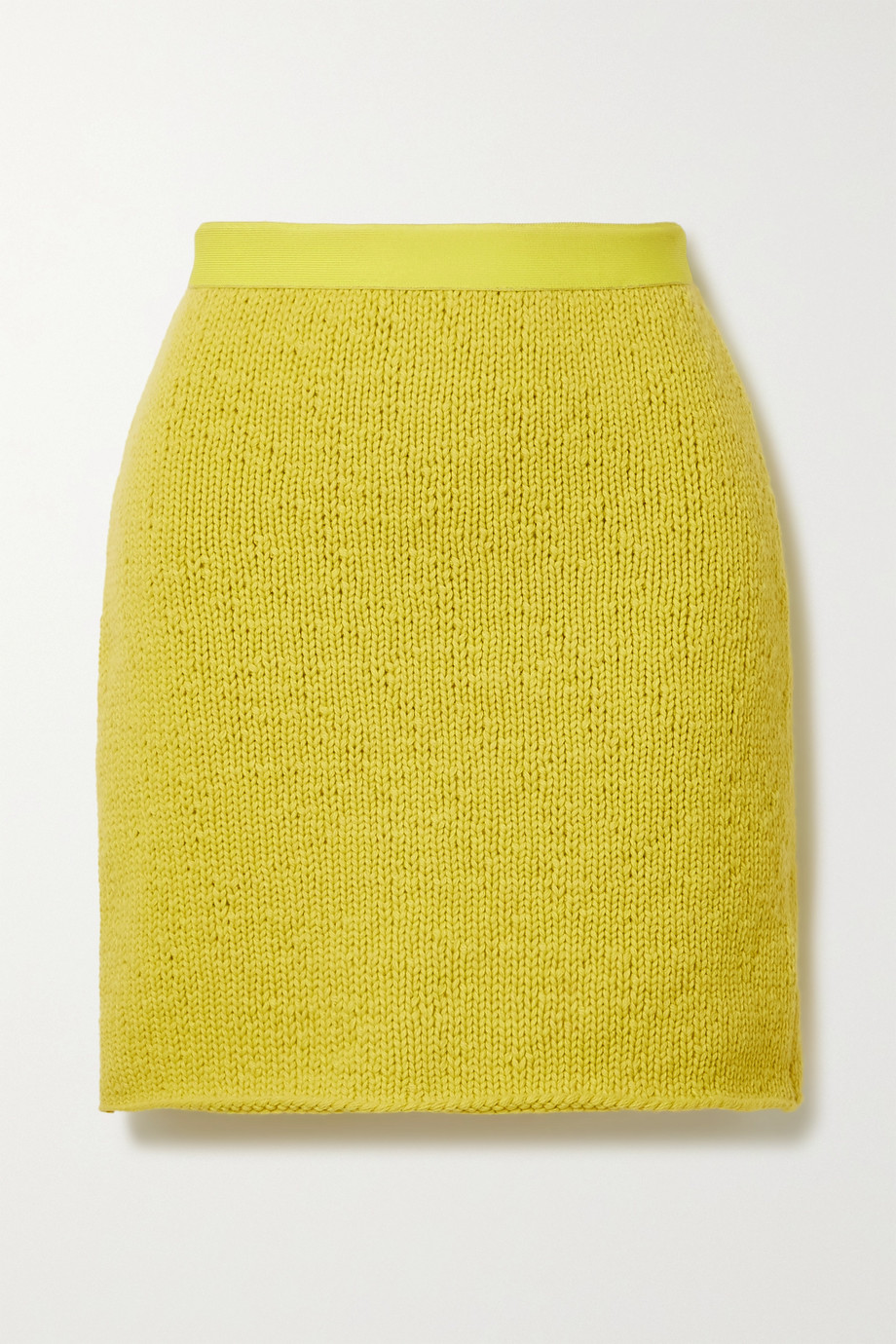 BOTTEGA VENETA Wool and cashmere-blend mini skirt