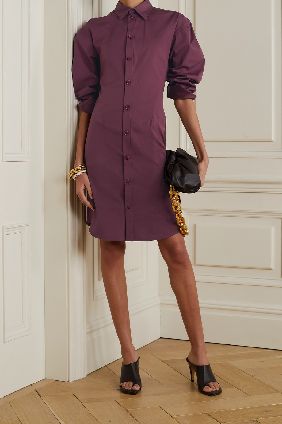 BOTTEGA VENETA Stretch-cotton poplin shirt dress