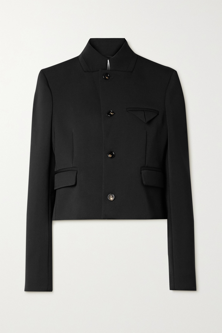 BOTTEGA VENETA Cropped wool-blend twill jacket