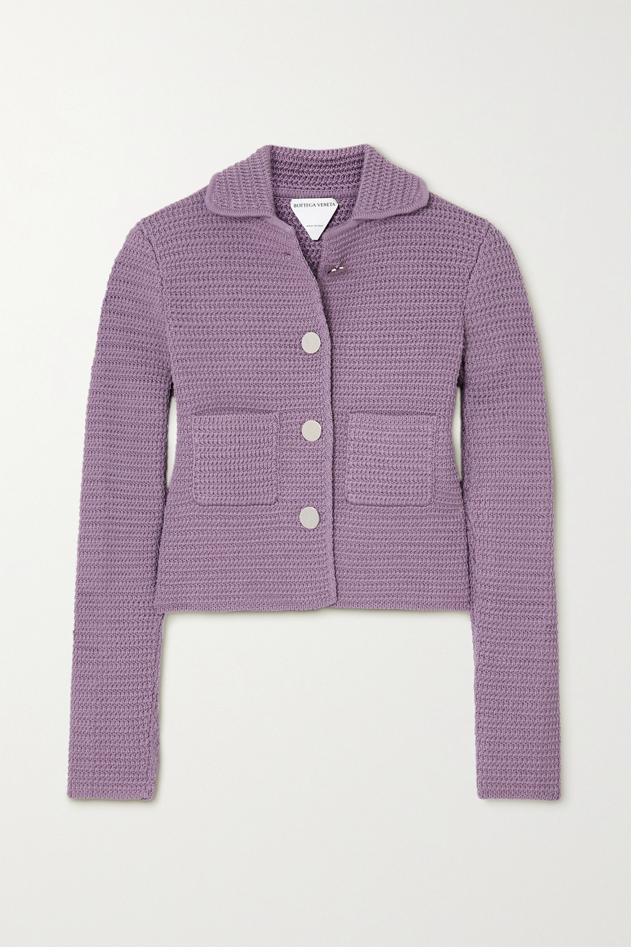 BOTTEGA VENETA Crochet-knit cotton-blend jacket