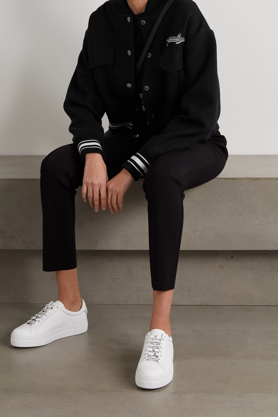 GIVENCHY Appliquéd wool bomber jacket
