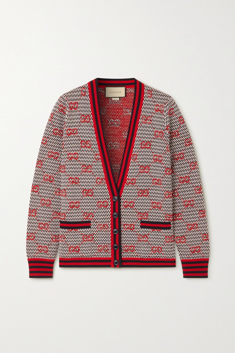 GUCCI Striped intarsia wool cardigan
