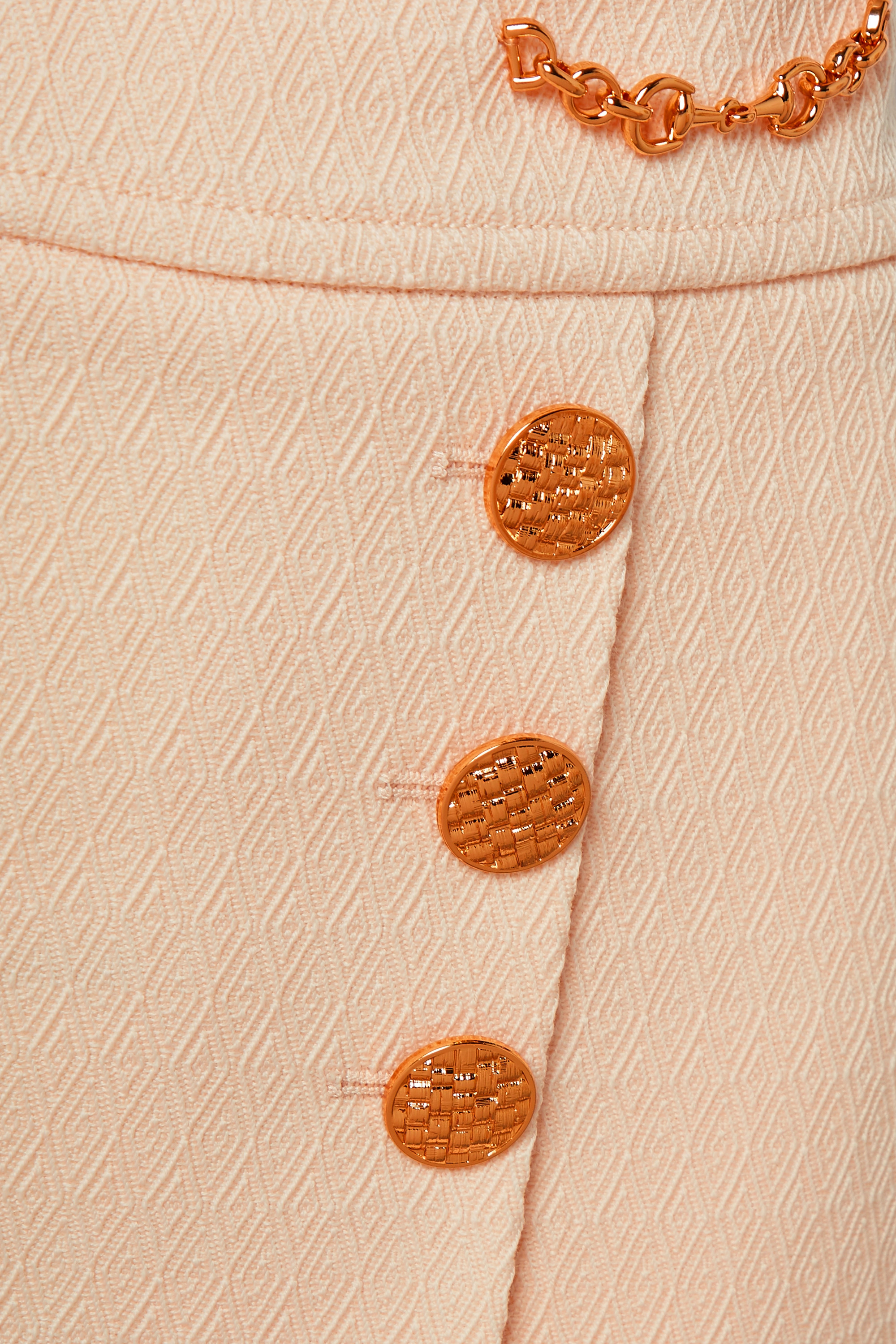 GUCCI Horsebit-detailed wool-jacquard mini skirt