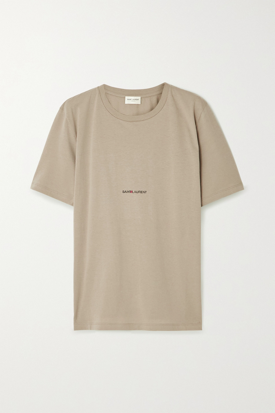 생 로랑 Saint Laurent Printed cotton-jersey T-shirt,Army green