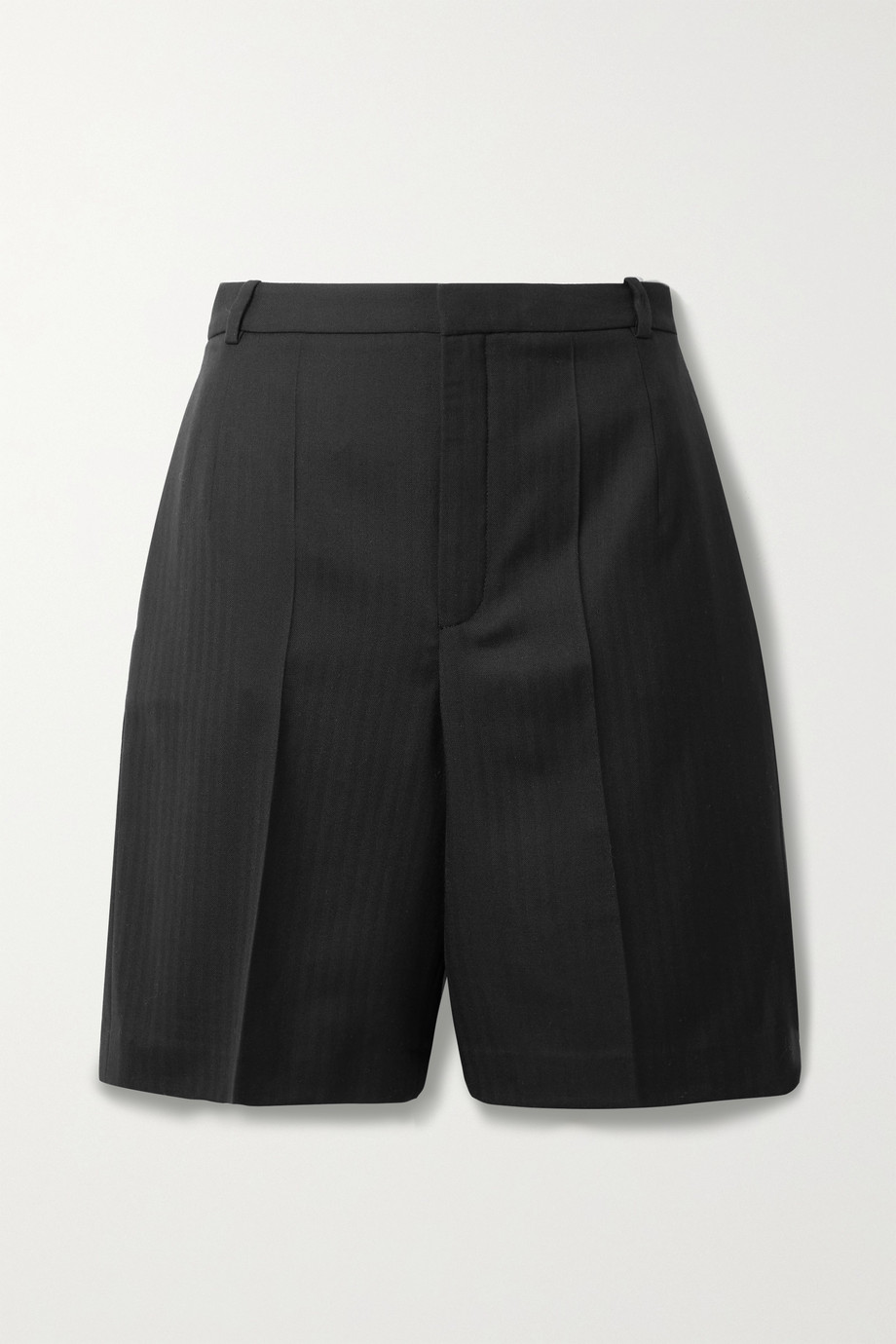 SAINT LAURENT Herringbone wool shorts