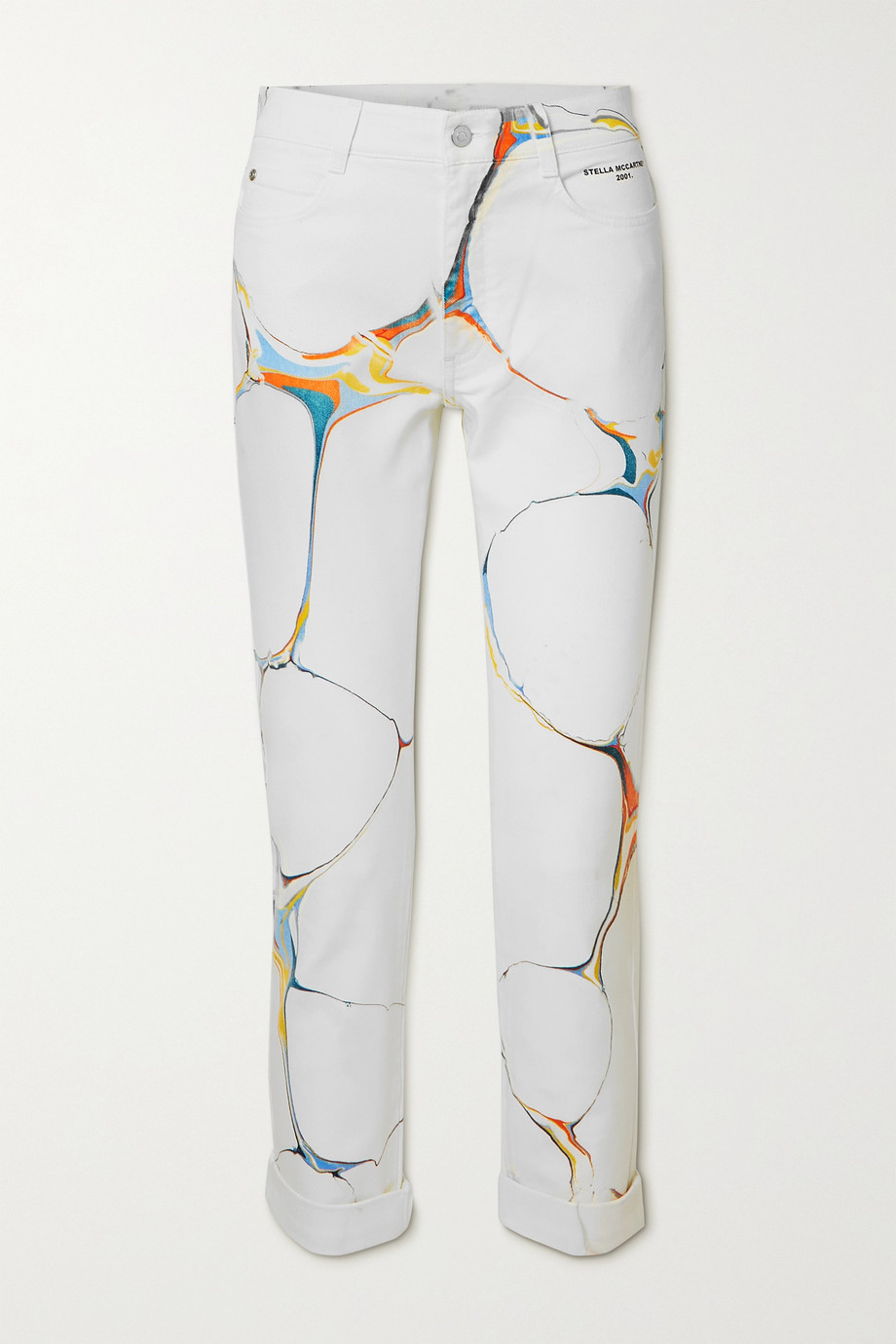 STELLA MCCARTNEY + NET SUSTAIN printed high-rise skinny jeans