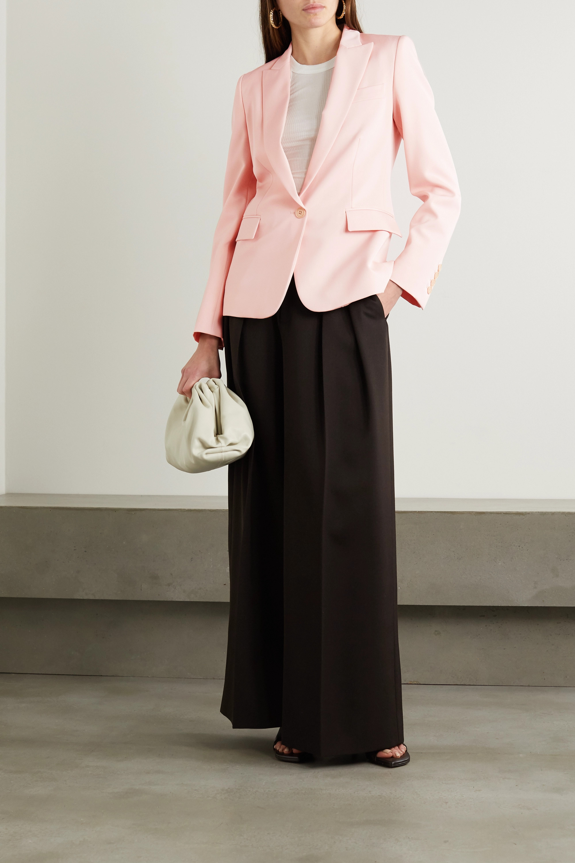 STELLA MCCARTNEY + NET SUSTAIN Ingrid wool-twill blazer