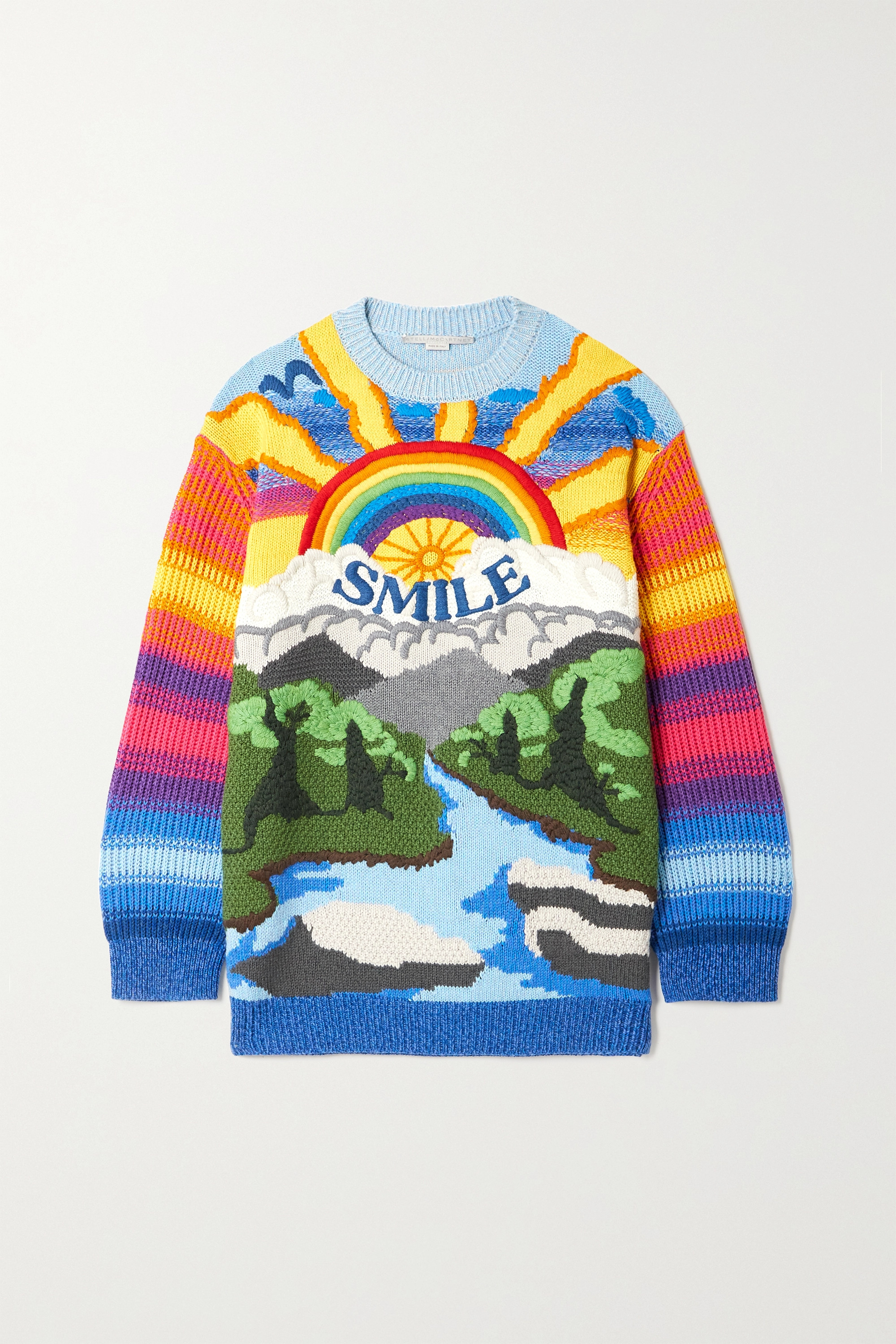 STELLA MCCARTNEY Kind intarsia wool and cotton-blend sweater