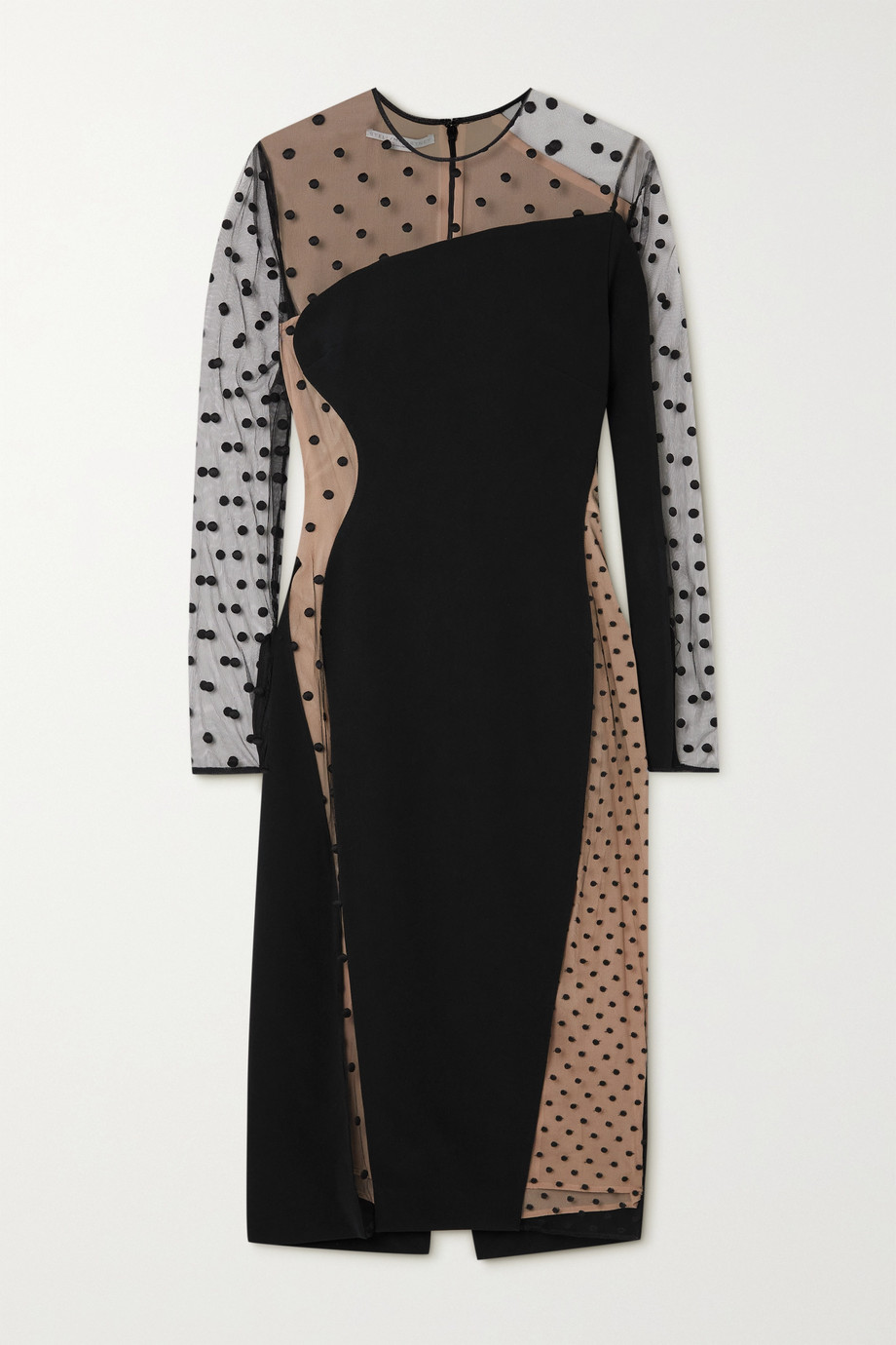 STELLA MCCARTNEY + NET SUSTAIN Arielle cady and embroidered tulle dress