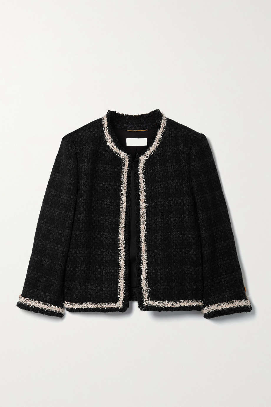 SAINT LAURENT Checked wool-blend tweed jacket