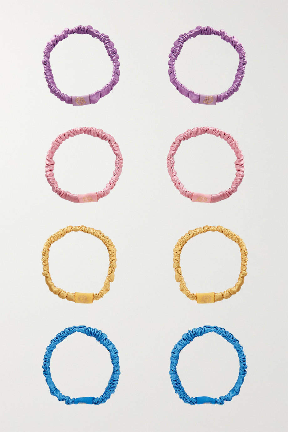 SILKE LONDON Set of 8 Hair Ties