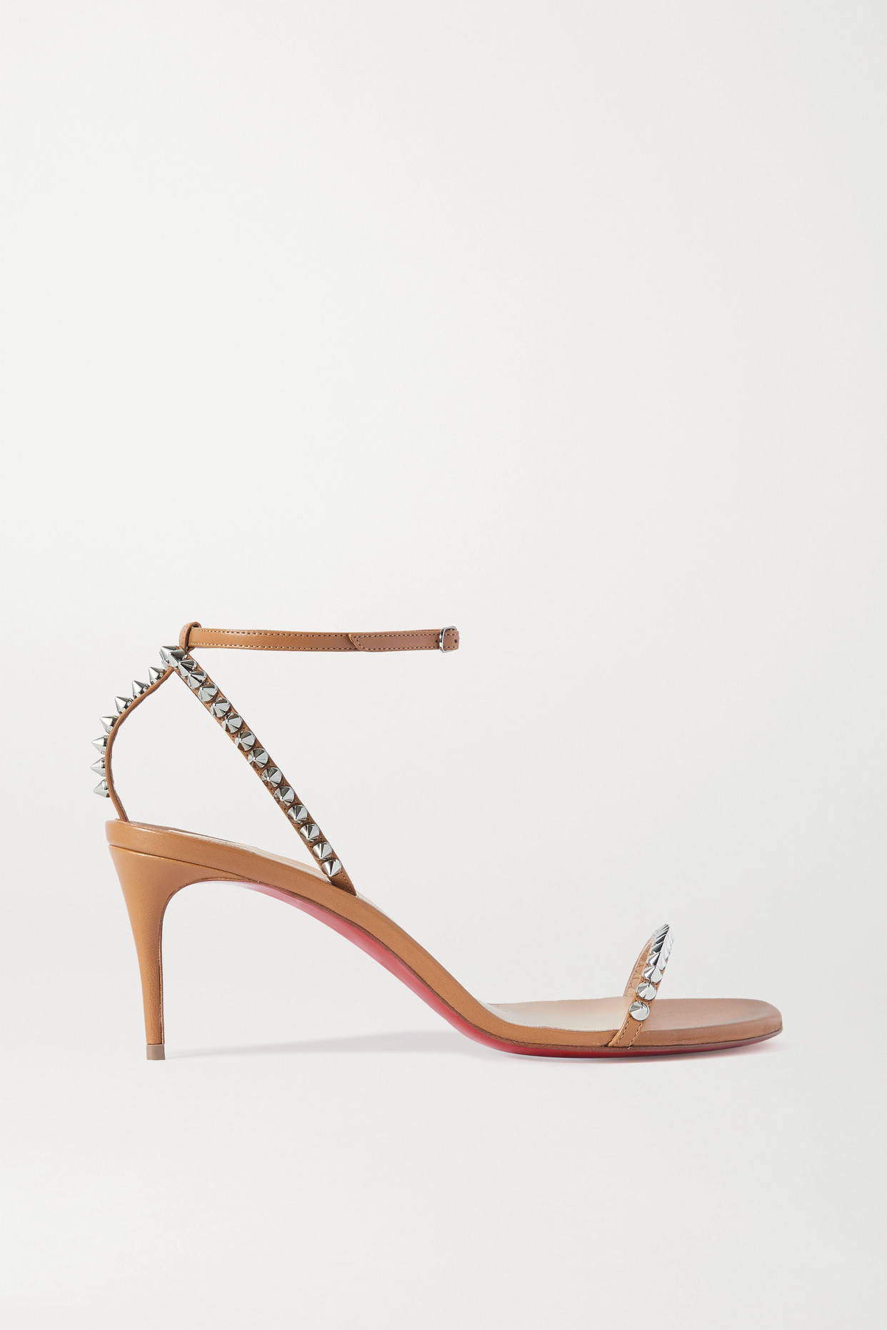 CHRISTIAN LOUBOUTIN - So Me 70 Studded Leather Sandals - Brown - IT35.5
