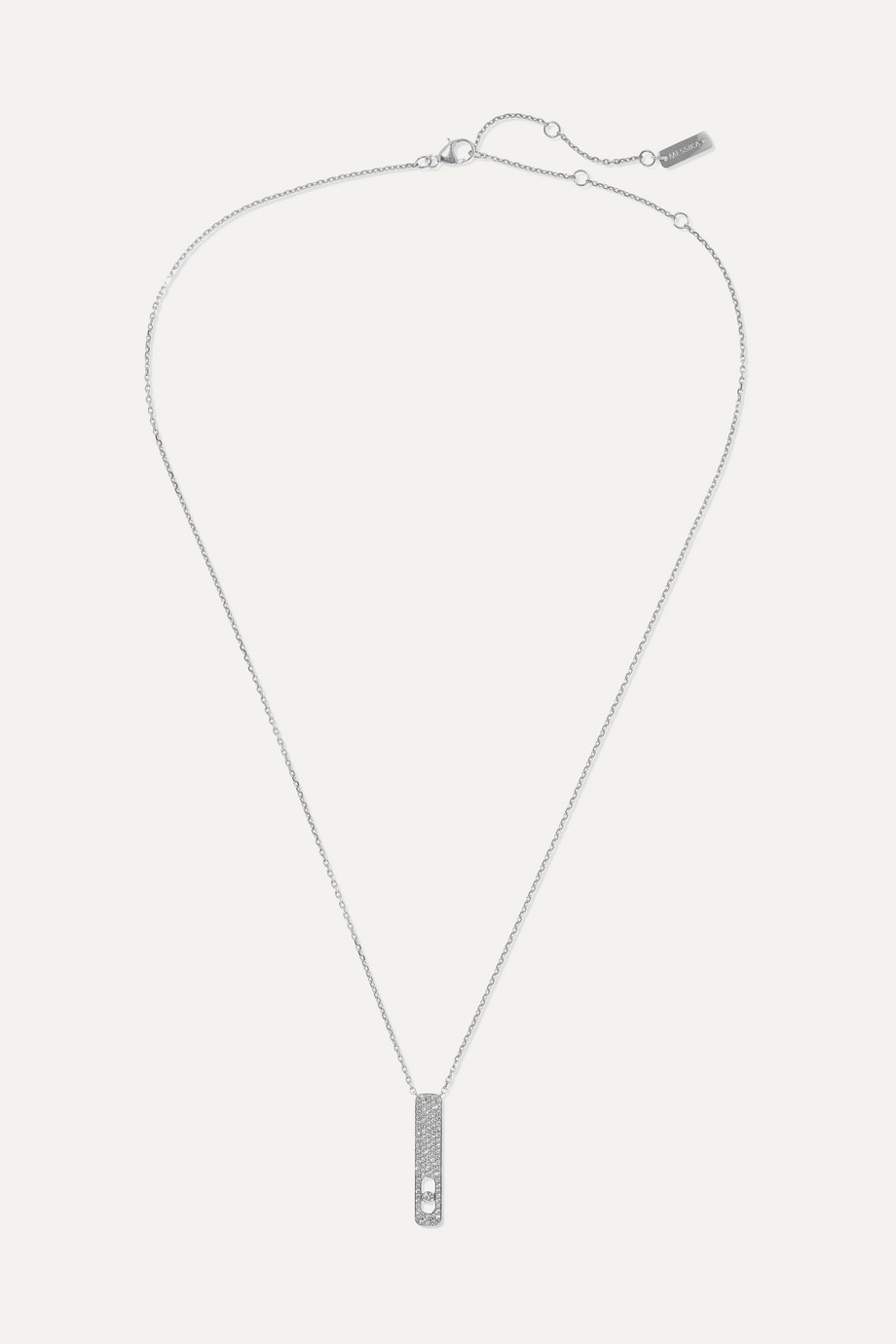 MESSIKA My First Diamond 18-karat white gold diamond necklace