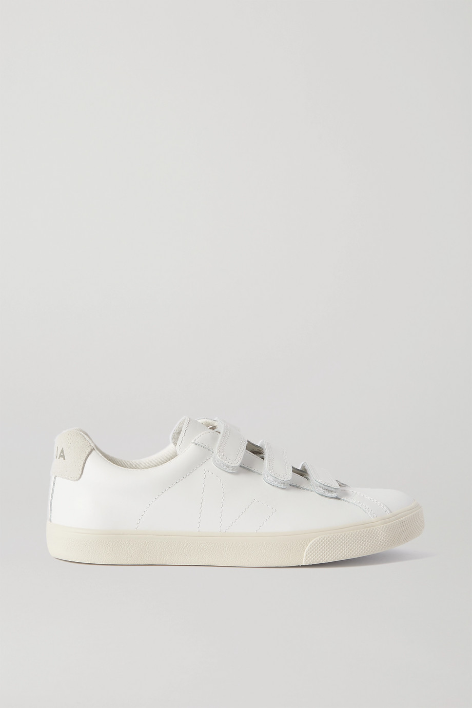 VEJA 3-Lock Logo suede-trimmed leather sneakers