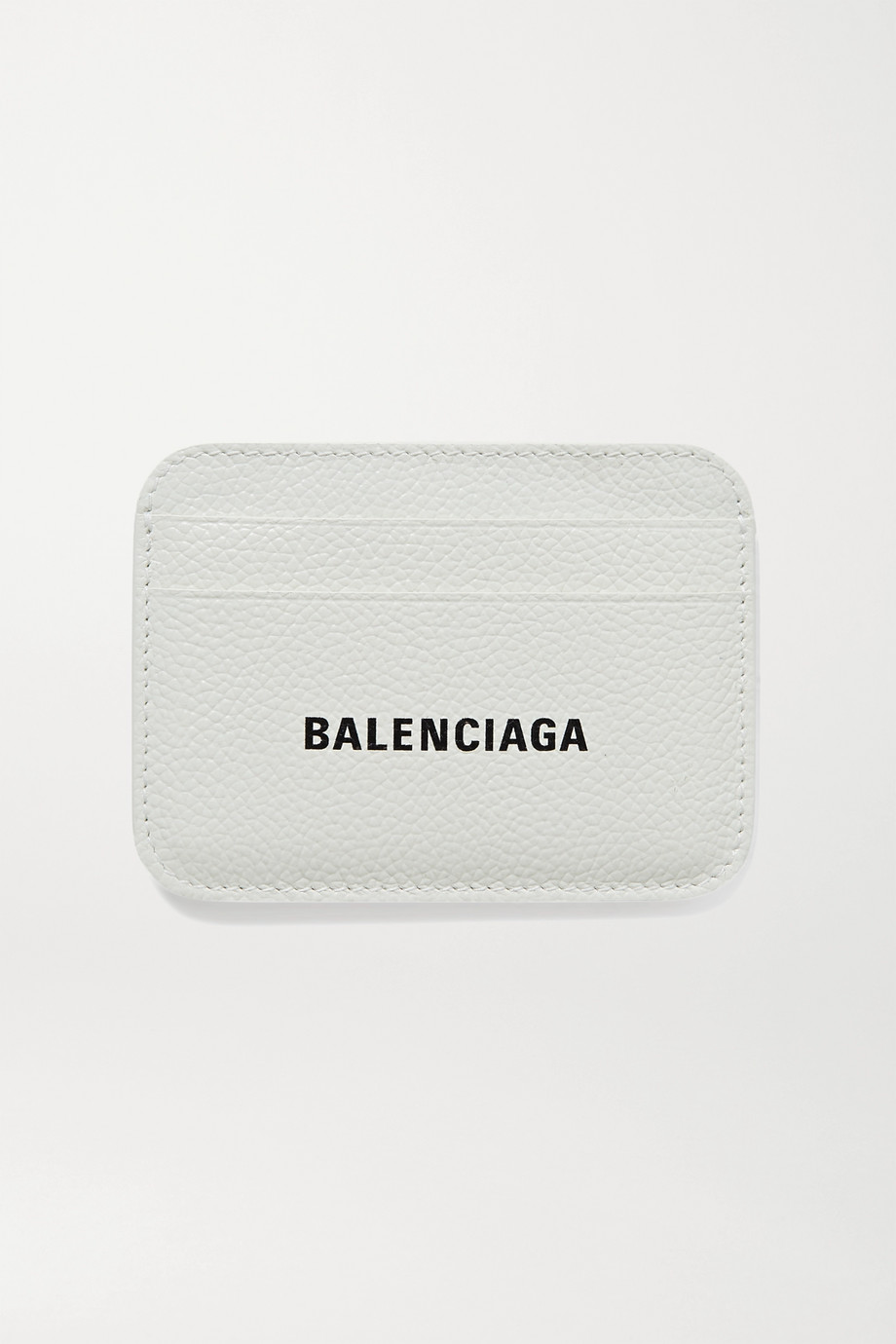BALENCIAGA Cash printed textured-leather cardholder