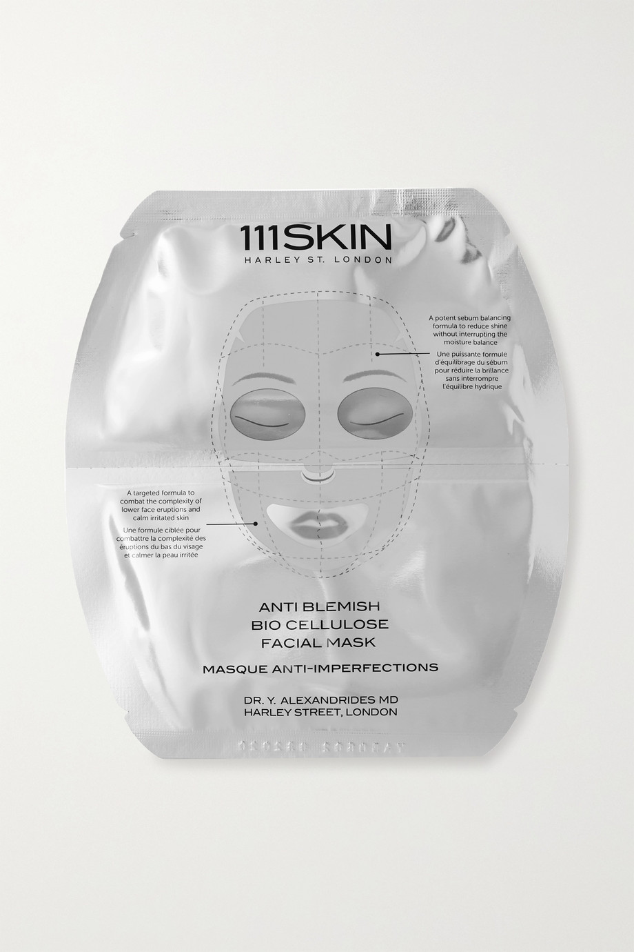 111SKIN Anti Blemish Bio Cellulose Facial Mask, 5 x 25ml