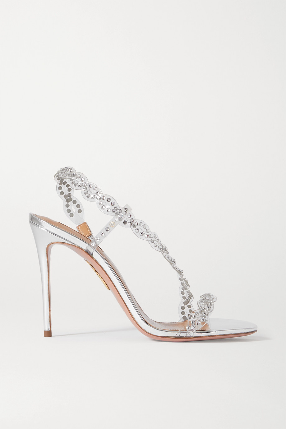 AQUAZZURA Heaven crystal-embellished PVC sandals