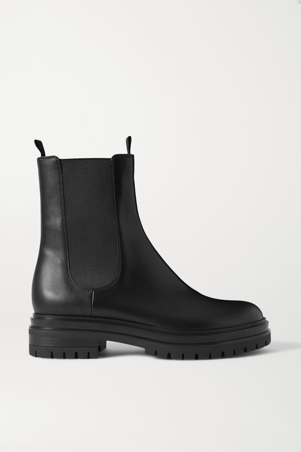 GIANVITO ROSSI - Leather Chelsea Boots - Black - IT38.5