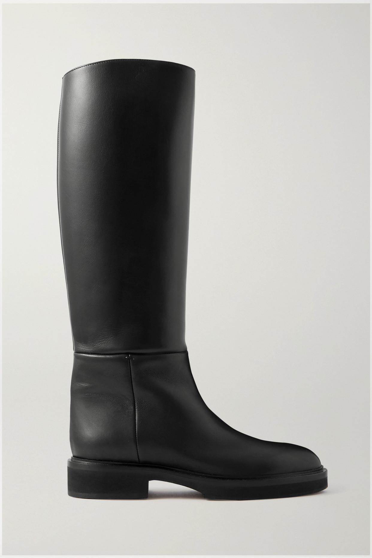 KHAITE - Derby 皮革及膝长靴 - 黑色 - IT37.5