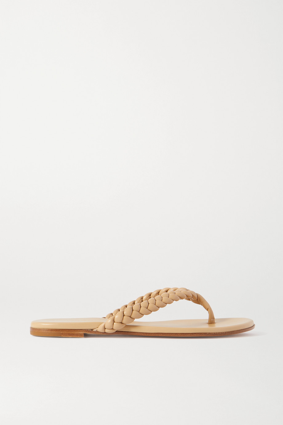 GIANVITO ROSSI Braided leather flip flops