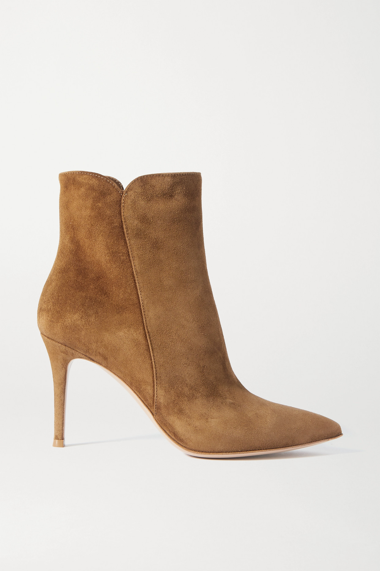 GIANVITO ROSSI - Levy 85 Suede Ankle Boots - Brown - IT40
