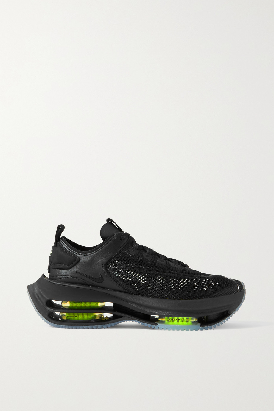 NIKE Zoom Double Stack nubuck-trimmed mesh and leather sneakers